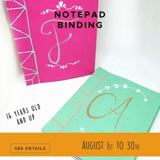 Notepad Binding - August Adult Craft